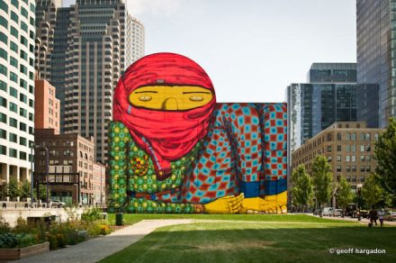 Os Gemeos, The Giant of Boston, 2013